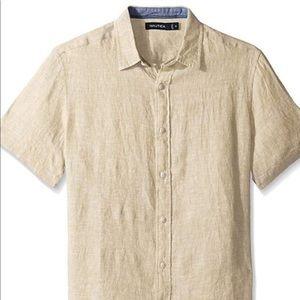 Nautica classic fit linen short sleeve shirt